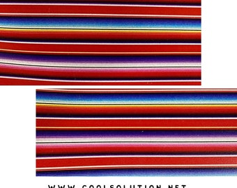 Leather Printed Sarape Printed Serape Printed Leather Sedona Sarape Leather Sheets by Square Cowhide Leather for Bags or Earrings