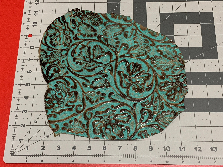 Déchets de cuir gaufrer outil de Cowboy photo en cuir marron Turquoise  357  comme photo 70e7b96116d