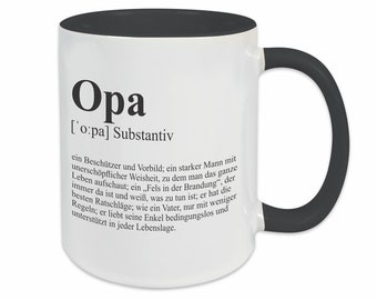 Cup OPA | Grandfather | Gift | Saying | Definition | Coffee mug | Coffee cup | Birthday | Thank you | Duden | Thank you saying cup