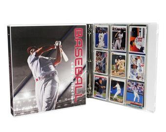 Rare Baseball Collectors Trading Card Binder Album 3 Inch D Ring Organizer RED