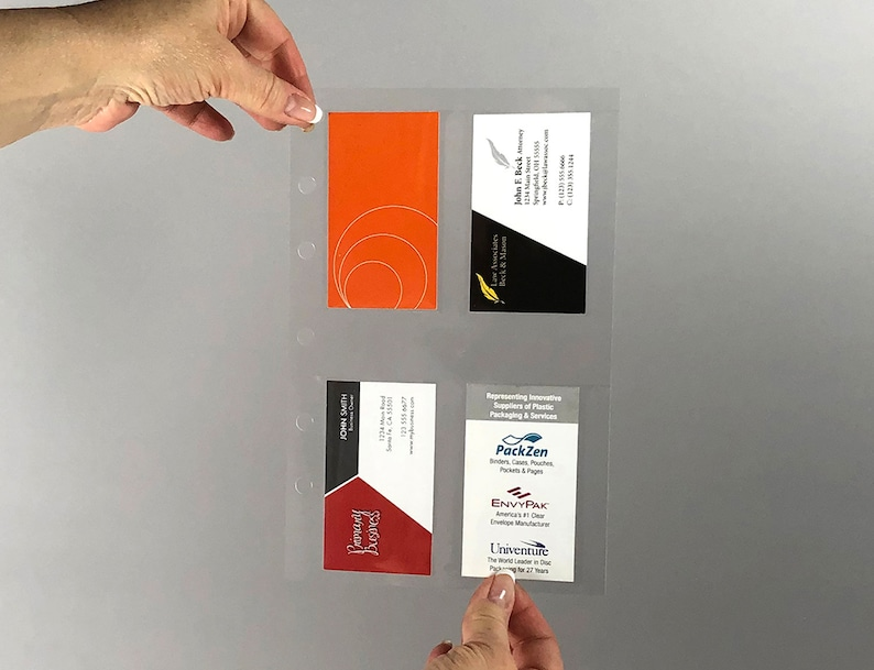 Holds 3.5 x 2 Inserts Pack of 20 Ticket Stubs or Business Cards Mini Page Protector