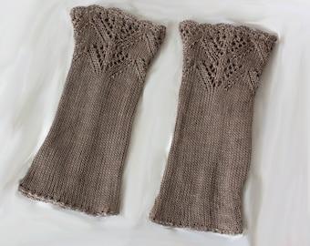 Handstulpen Wolle Nepal Pulswärmer Strick Zopfmuster Dekorative Stulpen Winter