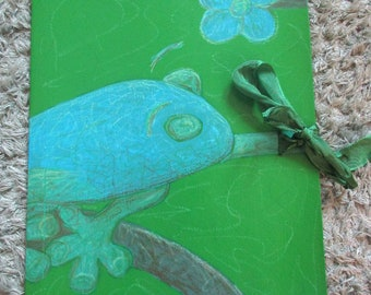 Collective folder A4 frog green blue