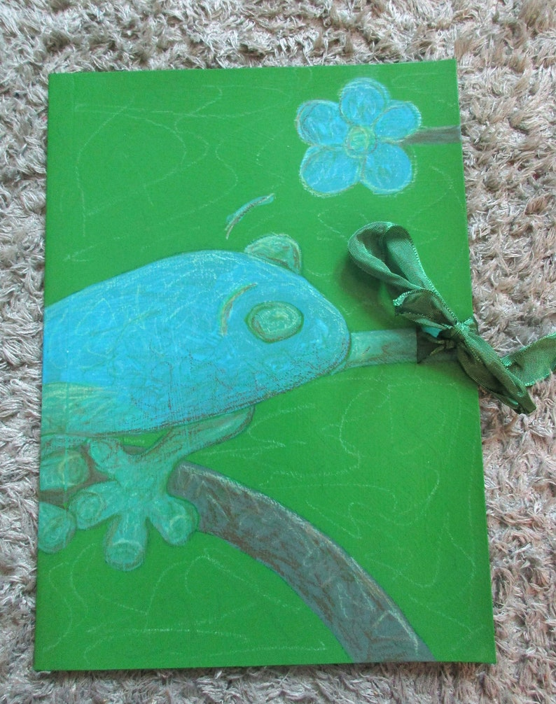 Collective folder A4 frog green blue image 0