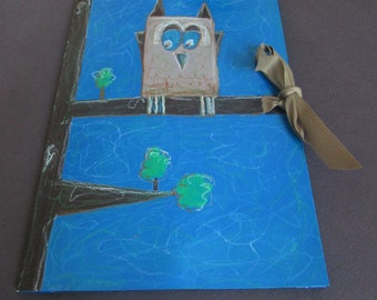 Collection A4 Owls Brown Blue