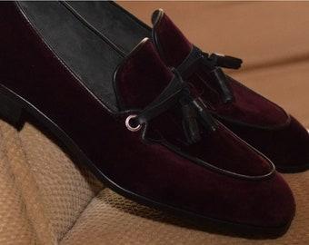 84681030db4 Burgundy Handmade loafer