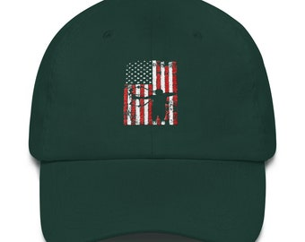cdcab53a American Archer Patriotic Compound Bow Bowhunting Dad hat
