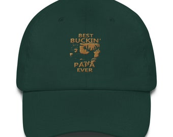 d3779eb6f04 Best Buckin' Papa Ever Father's Day Gift Idea Dad hat
