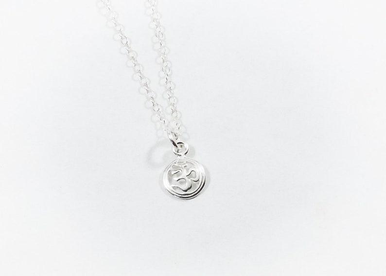 Yogi \u0950 Om necklace yogis yoga sterling silver sacred sanskrit icon hinduism buddhism dainty silver om necklace. zen jewelry