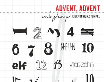 Not only Advent, Advent - Stamp Set