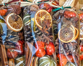 Fruit and spice bag, orange & cinnamon oil