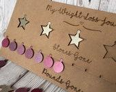 Weight loss board tracker token coins stars
