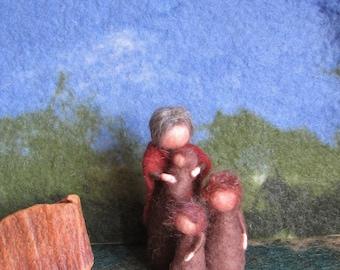 Mother Earth, Flower Child, Waldorf, seasons table, fairy tale, Dwarf, Tomte, IMP, child, autumn,