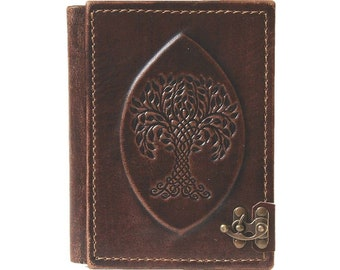 E Book Case, Protective Case, Motif 'Yggdrasil', Kindle, Tolino, Leather