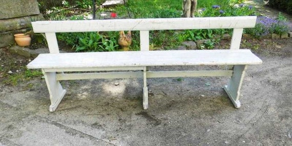 Awesome Old Station Bench Wooden Bench Bench Bench Garden Bench Around 1920 Stable And Well Preserved Machost Co Dining Chair Design Ideas Machostcouk