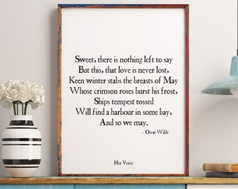 Oscar Wilde Poem Etsy