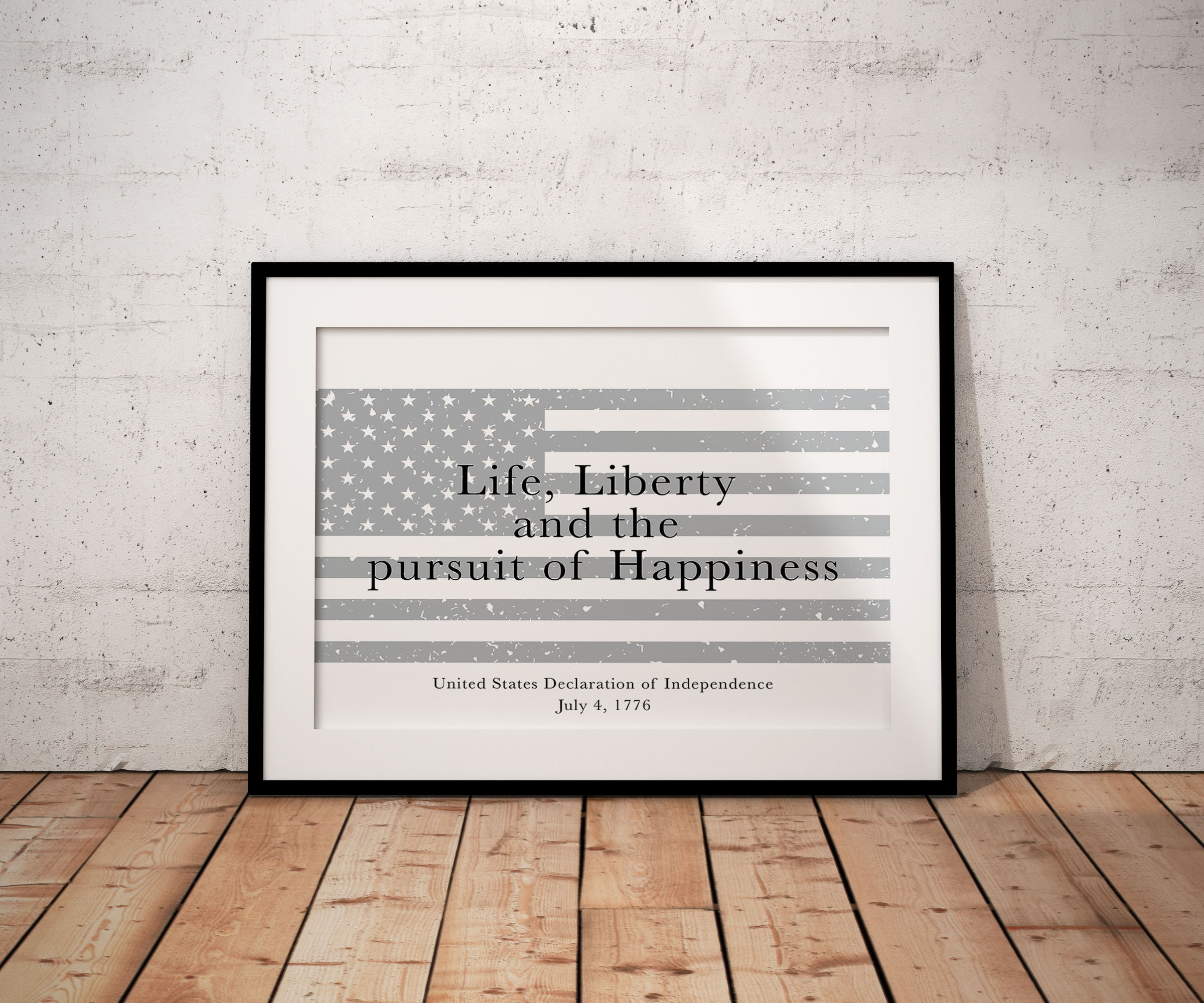 af11ca81c44a The Declaration of Independence Print, Life, Liberty and the Pursuit of  Happiness, in Black & White, Home Decor Wall Art