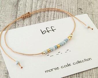 17928902a7711 Morse code bracelet | Etsy