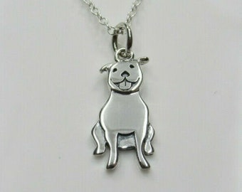 Pit bull bully American bulldog hand made unique pendant charm Pet jewelry Keepsake for your pet No two alike.