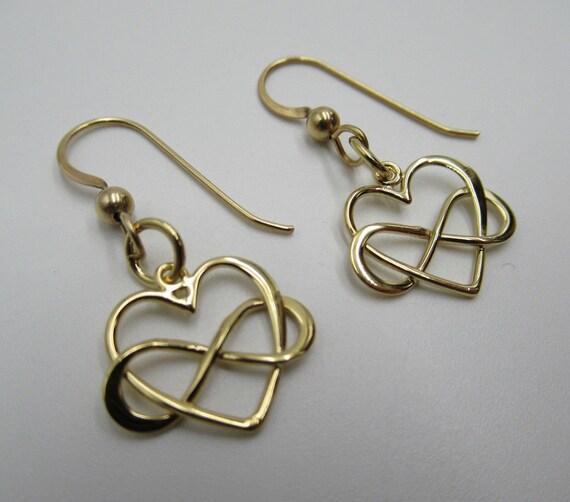 Women 925 Sterling Silver 4 Dangle Heart Hook Earrings Valentine Jewelry Gift