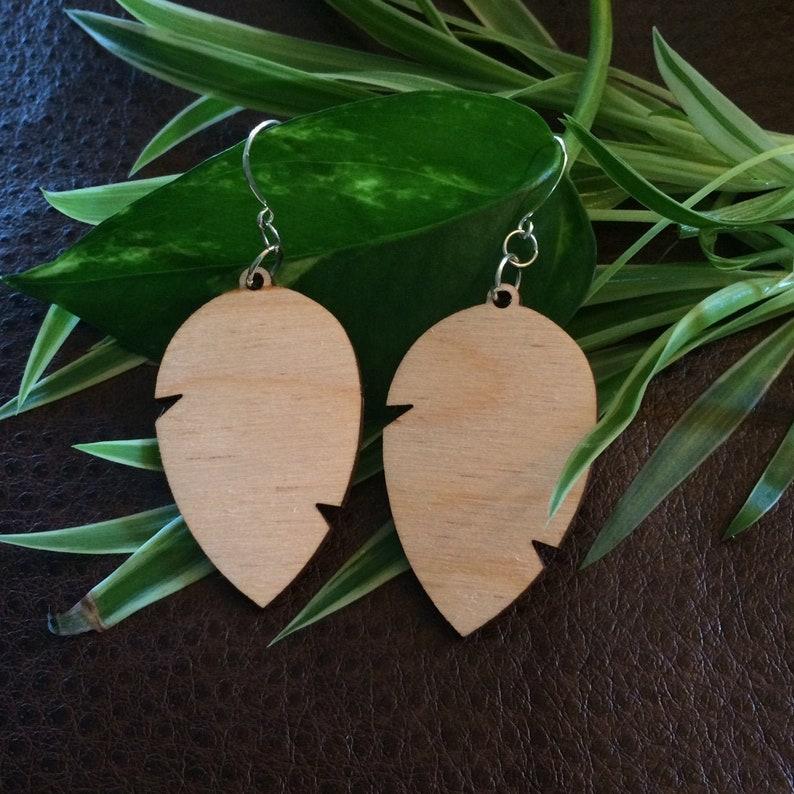 Various Styles Wooden Leaf Earrings Large Leaf