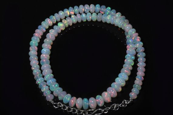Natural Ethiopian Opal Rondelle Beads Smooth Opal Beads AAA Natural Opal 16inch Strand Opal Beads Fire Opal beads 3 to 5 MM Size