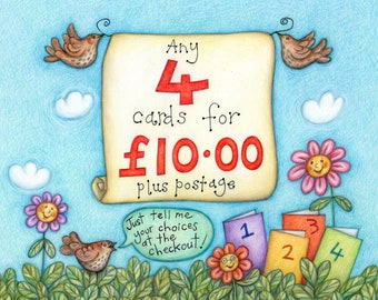 SPECIAL OFFER!   Pick and mix any 4 cards  :)