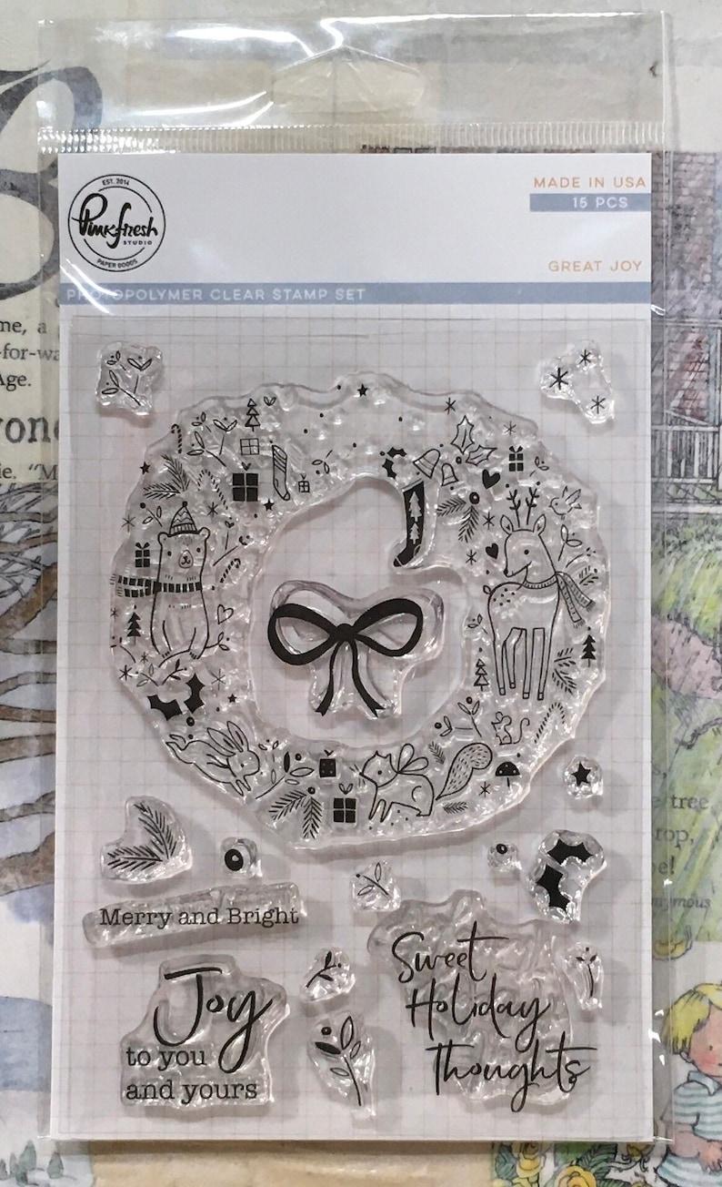 Destash PinkFresh Studios Great Joy Stamp Set