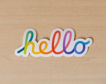 Apple WWDC 2021 'Hello' Rainbow Sticker