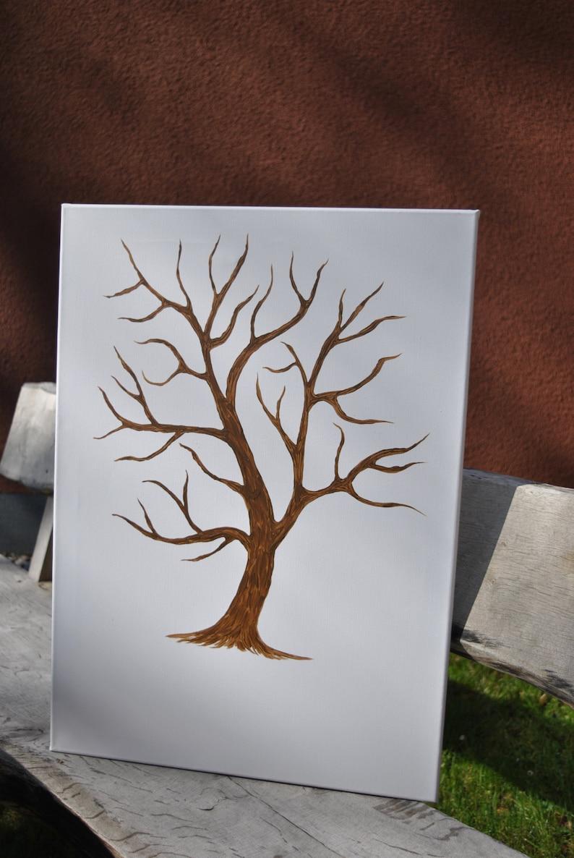 Fingerabdruck Leinwand Hochzeitsbaum 50 X 70 Cm Etsy