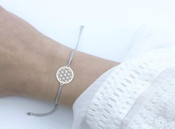 SCHOSCHON Damen Blume des Lebens Armband 925 Silber   Etsy 7f820d9a0e