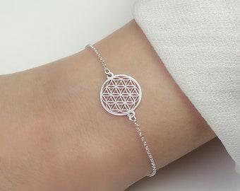 SCHOSCHON bracelet flower of life 925 silver / bracelet life flower jewelry gift women mother daughter girlfriend