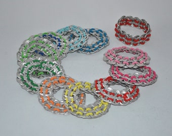 soda pop tabs bracelet and cycle can clips