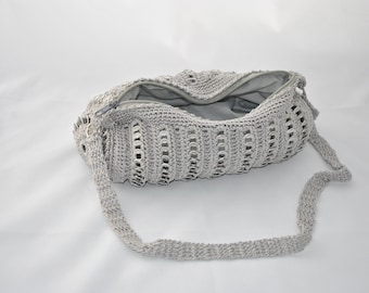 """upcycling bag """"CAN""""- SILVER can clips"""