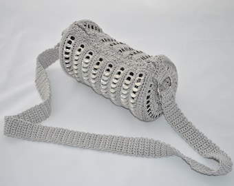 """soda pop tabs upcycling bag """"CAN silver"""" from can clips"""