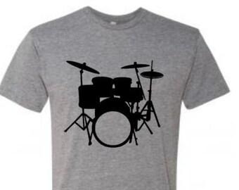 ead9e8d88 Drummer Shirt, Drum Set, Men's Drum T, Drumming Apparel, Drummer T-shirt,  Music Apparel, Men's Drum Tee, Gift For Him, Musician Apparel