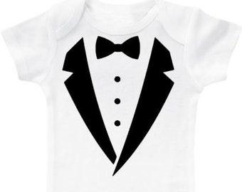ebaf28621199 Baby tuxedo romper