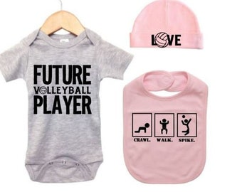 Volleyball Its in My DNA Toddler Baby Girl Boy Romper Jumpsuit Outfit Short Sleeve Bodysuit Tops Clothes