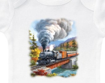 d4a94cf8b Baby train onesie