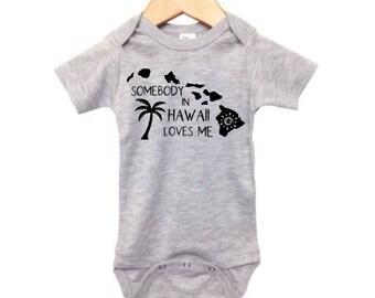 Surfer baby Aloha Baby Outfit Hawaii Baby Bodysuit Island Baby Hang Loose,