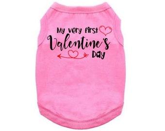 bbdeb3518d1d Valentine's Dog Shirt, My Very First Valentine's Day, Valentine's Day Dog  Shirt, Puppy Valentine's, Dog Apparel, Dog's 1st Valentine's Day