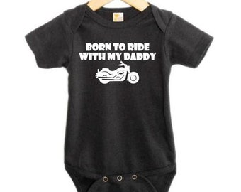 Girls Baby T-shirt Tees Clothing for Boys Born to Go Racing with My Daddy