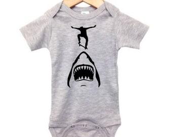 Santa Cruz California One Piece Baby Infant Creeper Romper NB-24M Gift Skate