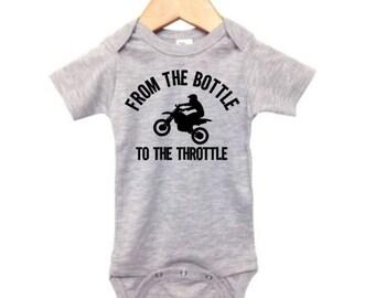Future Motocross Rider Long Sleeve Infant Bodysuit Baby Cotton Rompers Jumpsuit