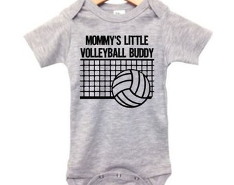 ac646f34 Volleyball Onesie, Mommy's Little Volleyball Buddy, Baby Shower Gift,  Newborn Clothes, Volleyball Bodysuit, Volleyball Romper, V-ball Baby