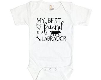 9c17ad050 Labrador Onesie, My Best Friend Is A Labrador, Baby Labrador Bodysuit, Lab  Onesie, Lab Bodysuit, Newborn Labrador Onesie, Infant Labrador