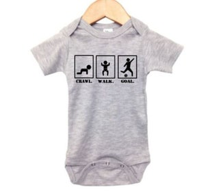 Soccer Onesie, Crawl Walk Goal, Baby Soccer Outfit, Futbol Bodysuit, One Piece Baby, Baby Shower Gift, Gift For Baby, Soccer Apparel, Futbol