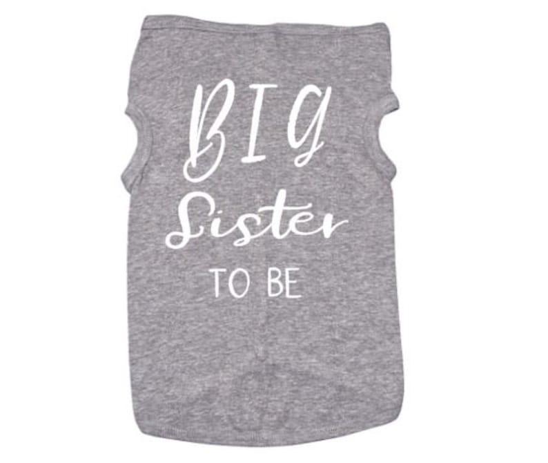 Big Sis T Big Sister Dog Shirt Funny Dog Tshirt Puppy Tee Big Sister To Be Baby Announcement Pet Clothes Big Sis Shirt For Puppies