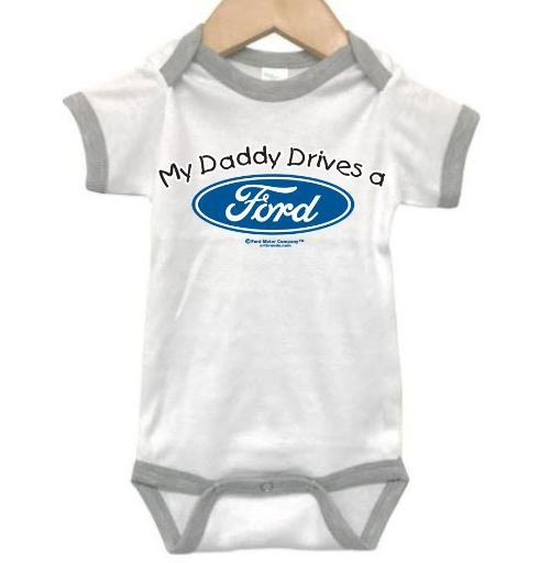 My Daddy Drives A Ford//Newborn Raglan Onesie//Unisex Baby Outfit