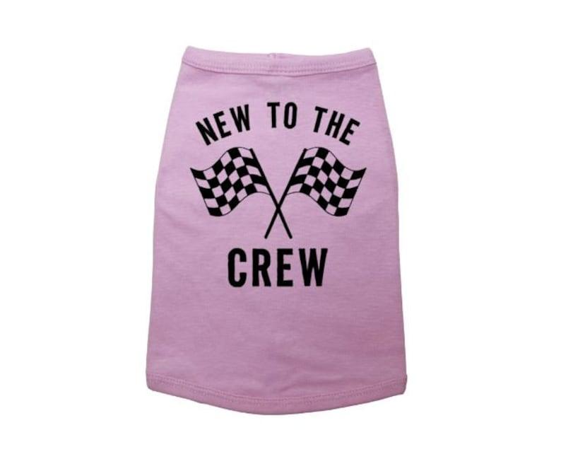 Rescue Dog New To The Crew Dog Shirt Puppy Shirt Dog Apparel New Puppy Outfit New To The Crew Funny Dog Shirt Dog Shirt Pet Supplies